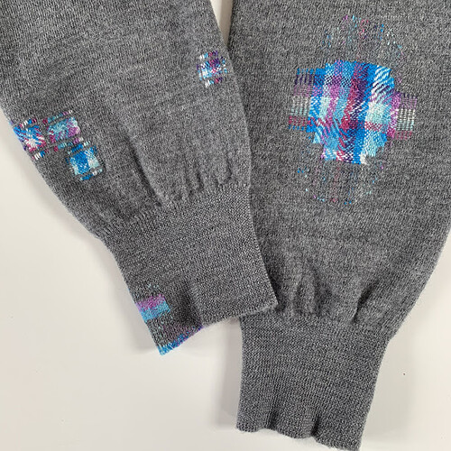 Creative darning and knitwear repair service. Design led Visible mending by Collingwood-Norris