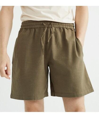 short-en-coton-bio-texture-kaki-thinking-mu