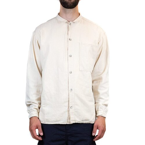 Tender-492-Long-Sleeved-Bench-Shirt-Tote-Cloth-Rinse-Washed-Ecru-Fit-Front_1024x1024